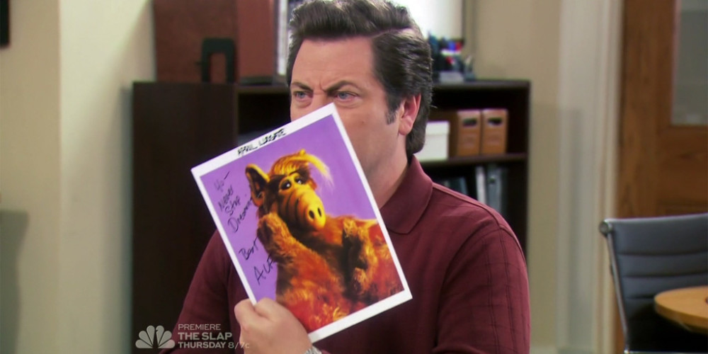 It's just a signed photograph of a puppet named ALF