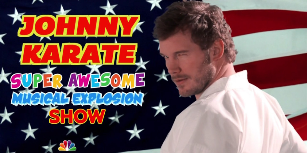 The Johnny Karate Super Awesome Musical Explosion Show opening credits picture1