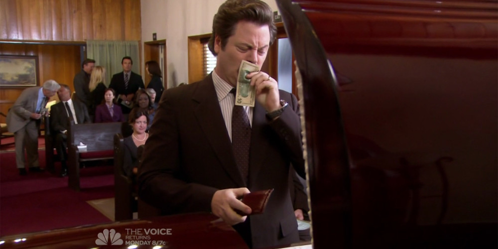 Ron Swanson does not believe in tipping picture2