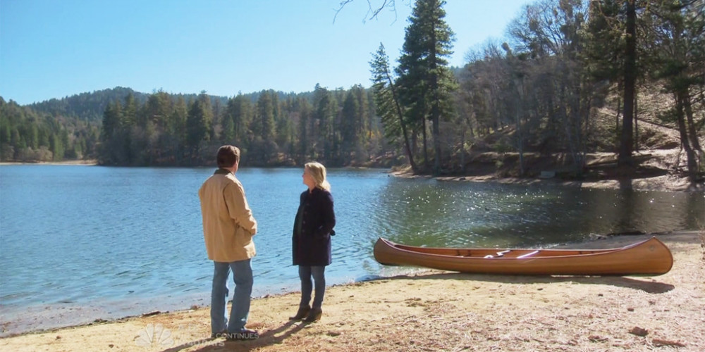 Ron Swanson meets Leslie Knope at the lake in Pawnee National Park picture1