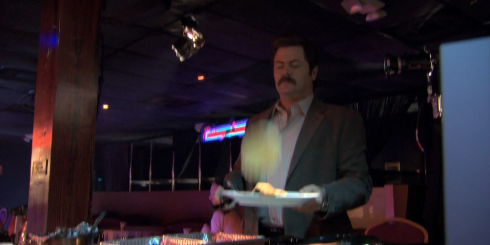 Ron Swanson strip club buffet 5