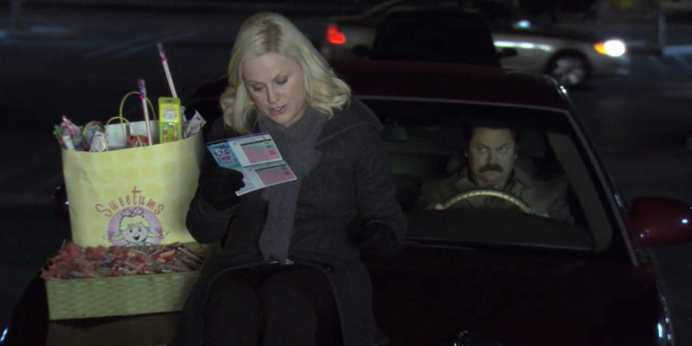 Leslie won't let Ron Swanson drive home.