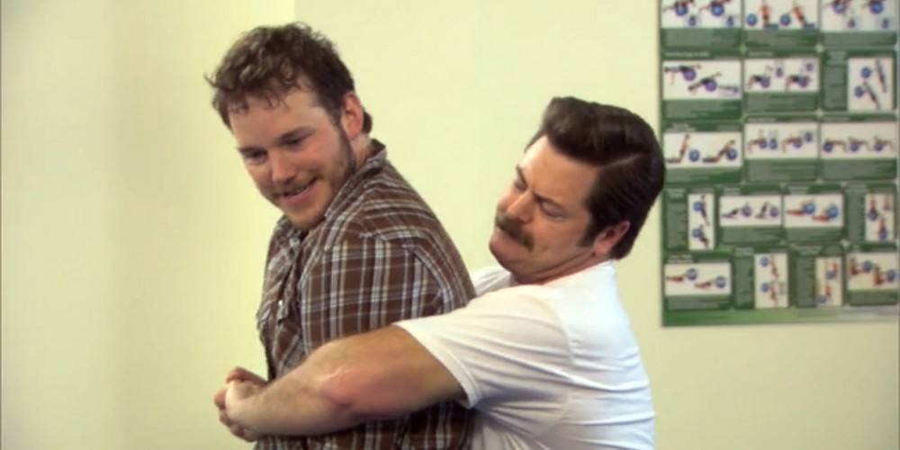 Ron Swanson self defense training.