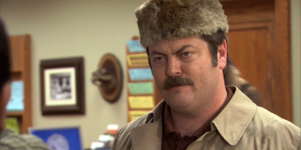 Ron Swanson coonskin hat 2