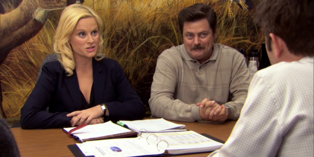 Ron Swanson Swanson's reactions to Ben cutting the budget picture 12