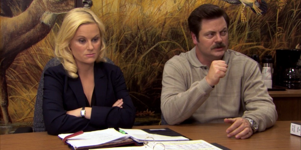 Ron Swanson Swanson's reactions to Ben cutting the budget picture 14