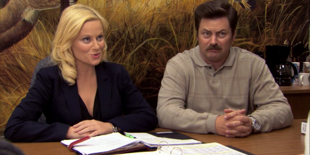 Ron Swanson Swanson's reactions to Ben cutting the budget picture 4