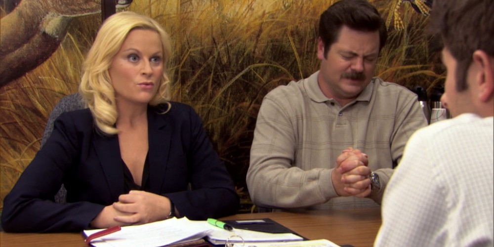 Ron Swanson Swanson's reactions to Ben cutting the budget picture 7