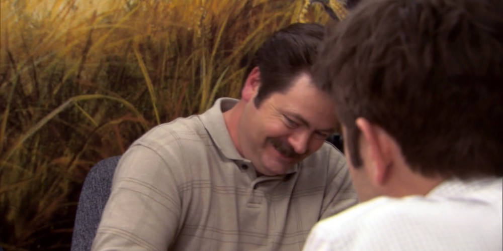 Ron Swanson Swanson's reactions to Ben cutting the budget picture 8