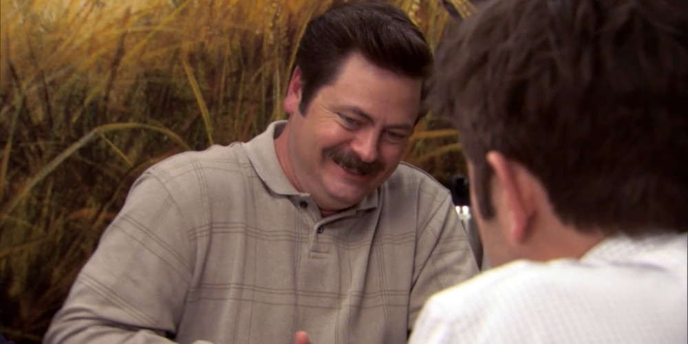Ron Swanson Swanson's reactions to Ben cutting the budget picture 9