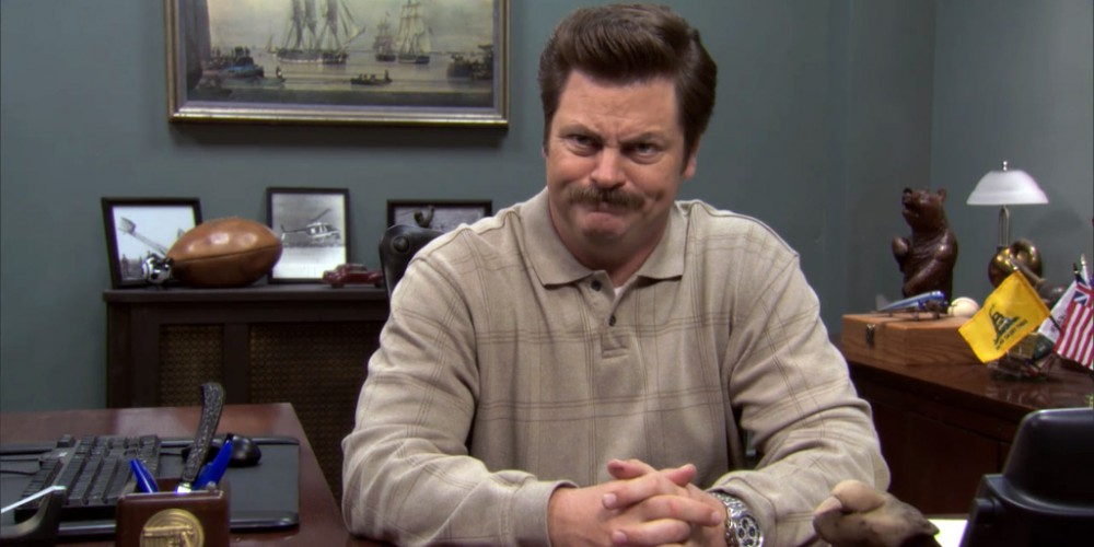 Ron Swanson is a Libertarian.