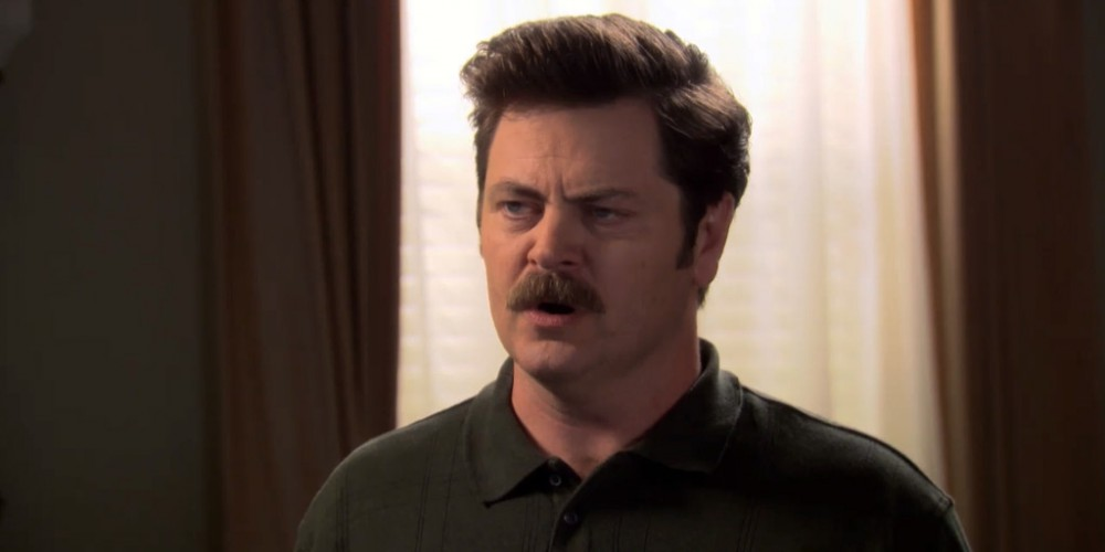 Ron Swanson will be a casualty of this righteous war.
