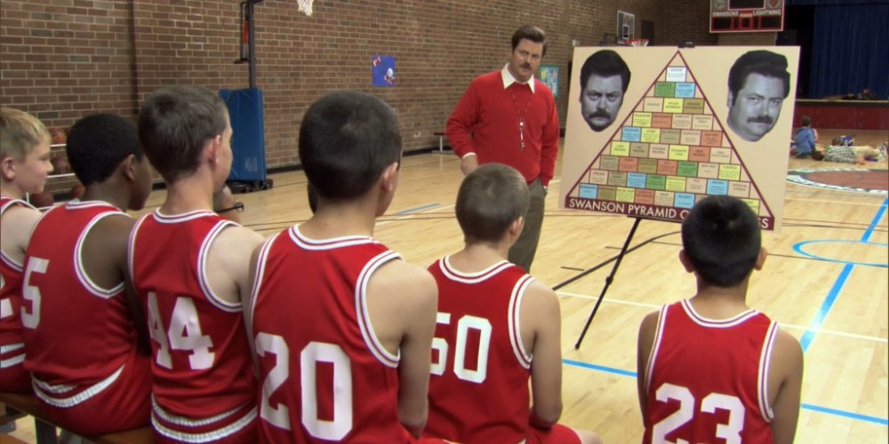 Ron Swanson introduces the Swanson Pyramid of Greatness picture 2