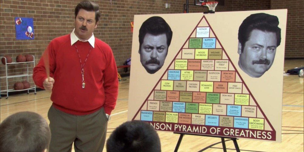 Ron Swanson introduces the Swanson Pyramid of Greatness picture 3