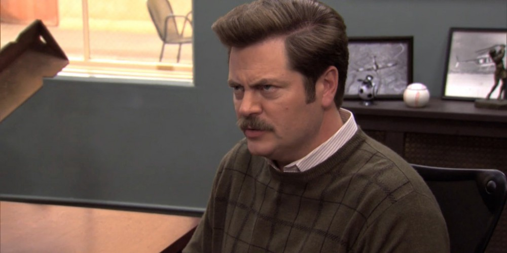 Ron Swanson does not negotiate with weirdos