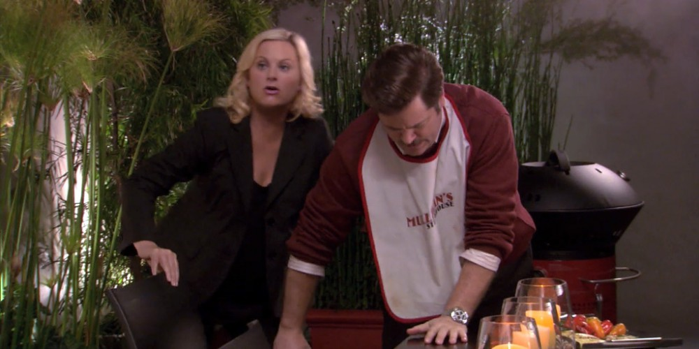 Ron Swanson is horrified by portabello mushrooms picture 5