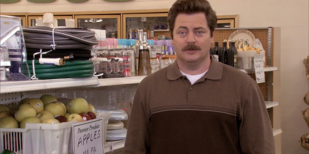 Ron Swanson shops at Food and Stuff picture 1