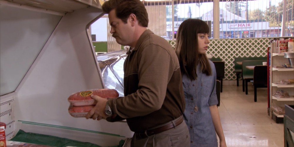 Ron Swanson shops at Food and Stuff picture 2