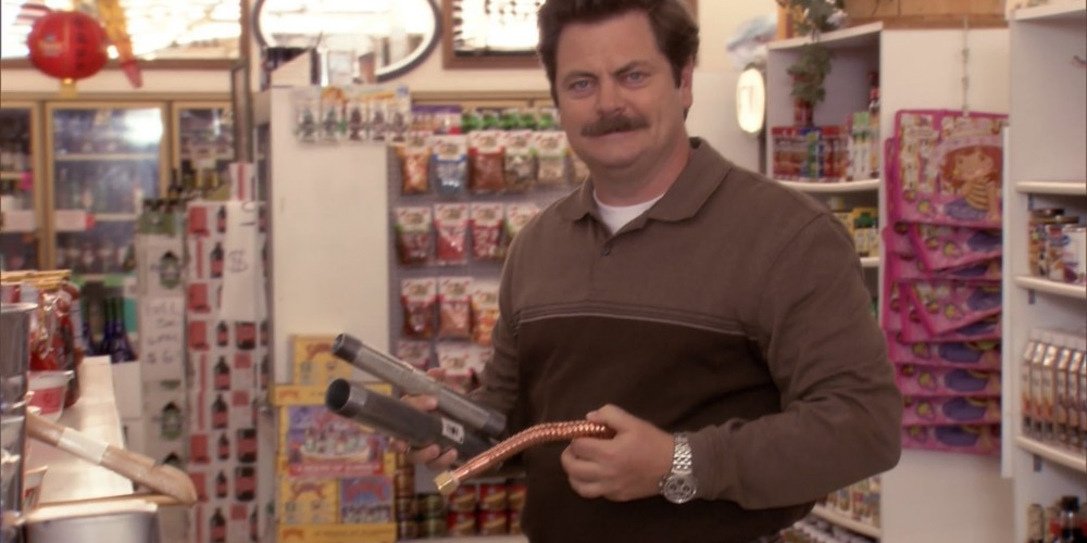 Ron Swanson shops at Food and Stuff picture 5