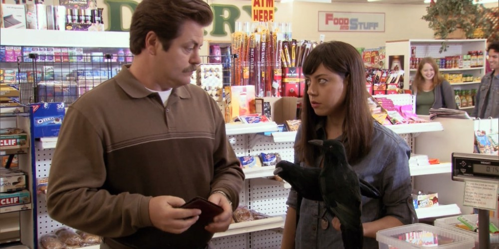 Ron Swanson shops at Food and Stuff picture 6