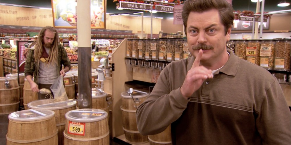 Ron Swanson at the health food store picture 2
