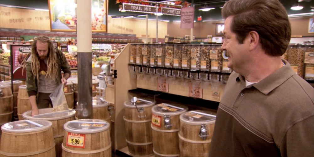 Ron Swanson at the health food store picture 3
