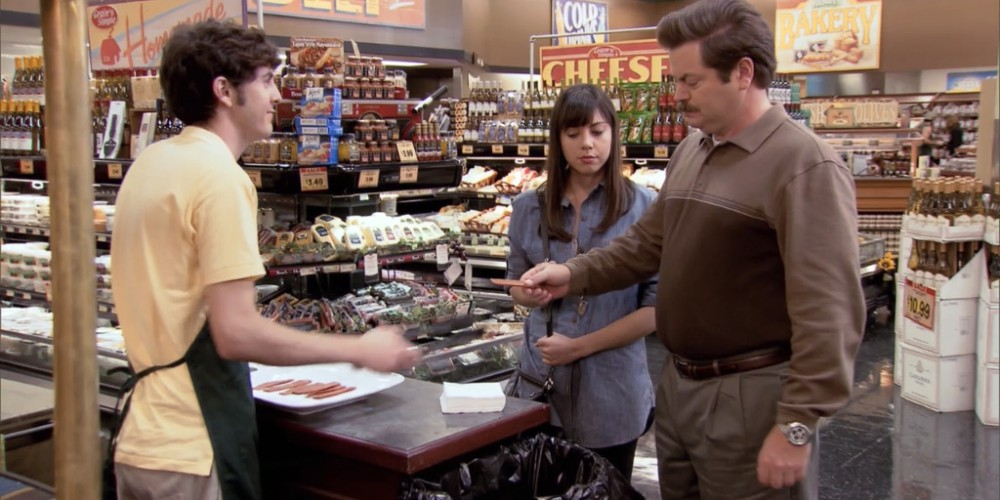 What happens when Ron Swanson samples vegan bacon picture 1