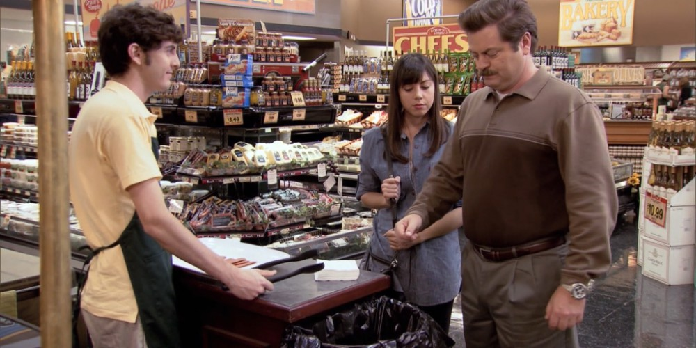 What happens when Ron Swanson samples vegan bacon picture 2