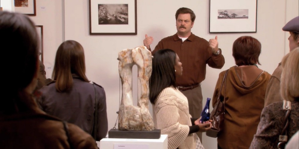 Ron Swanson Swanson's speech at the art show