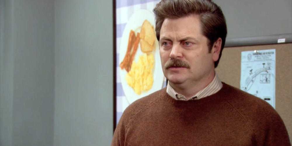 Ron Swanson Swanson's house is not even on a street