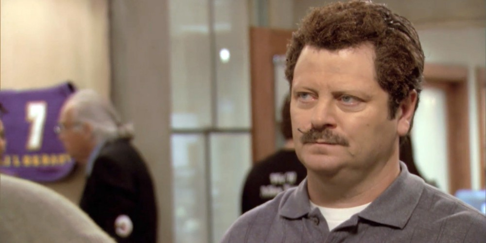 How Ron Swanson lost his eyebrows picture 11