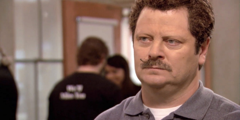 How Ron Swanson lost his eyebrows picture 12
