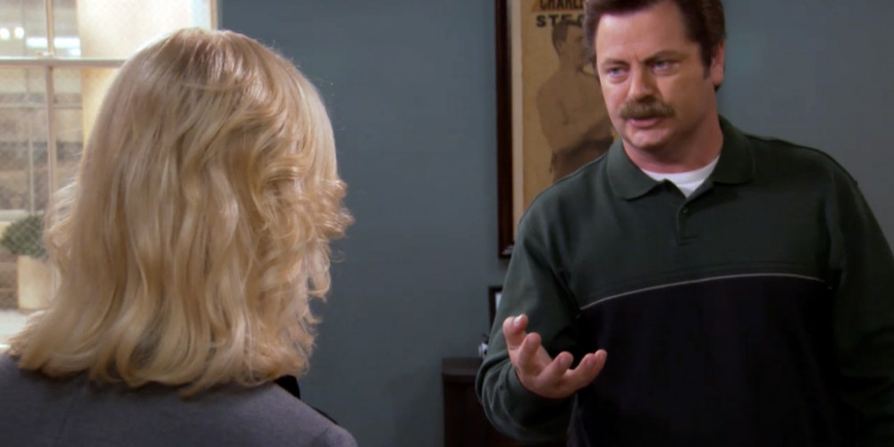 Tammy One want to control Ron Swanson like a puppet