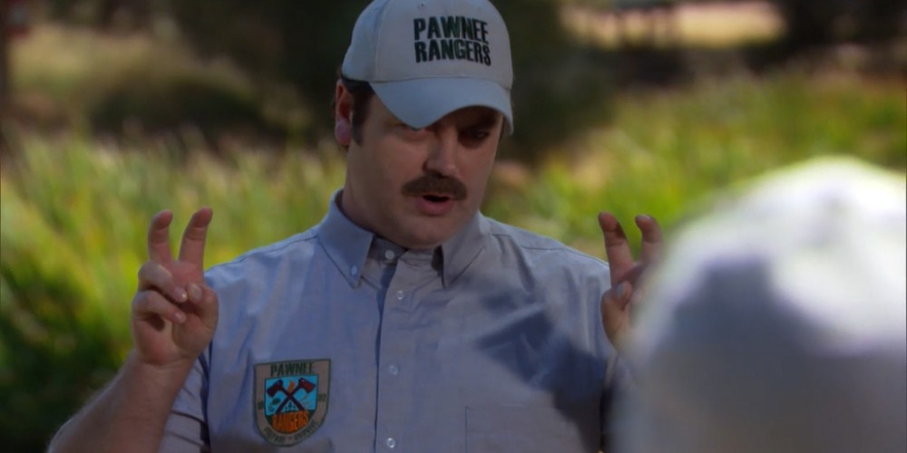 Ron Swanson gave the Rangers a gift.
