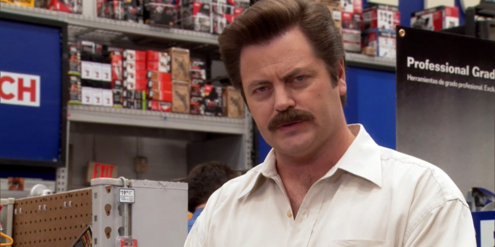 What Ron Swanson thinks of wedding presents