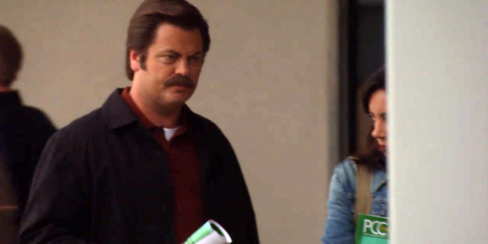 Ron Swanson would propose to the professor