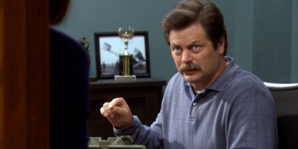Ron Swanson learns about online threats to his privacy picture 1