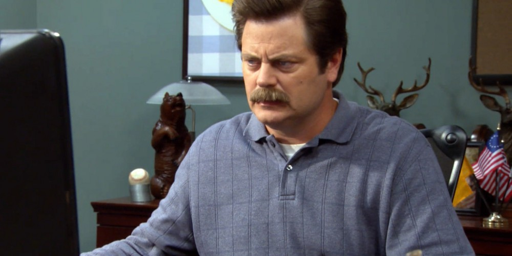 Ron Swanson learns about online threats to his privacy picture 2