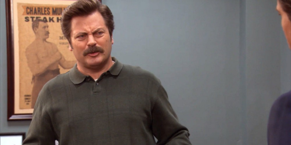 Ron Swanson can put out fires