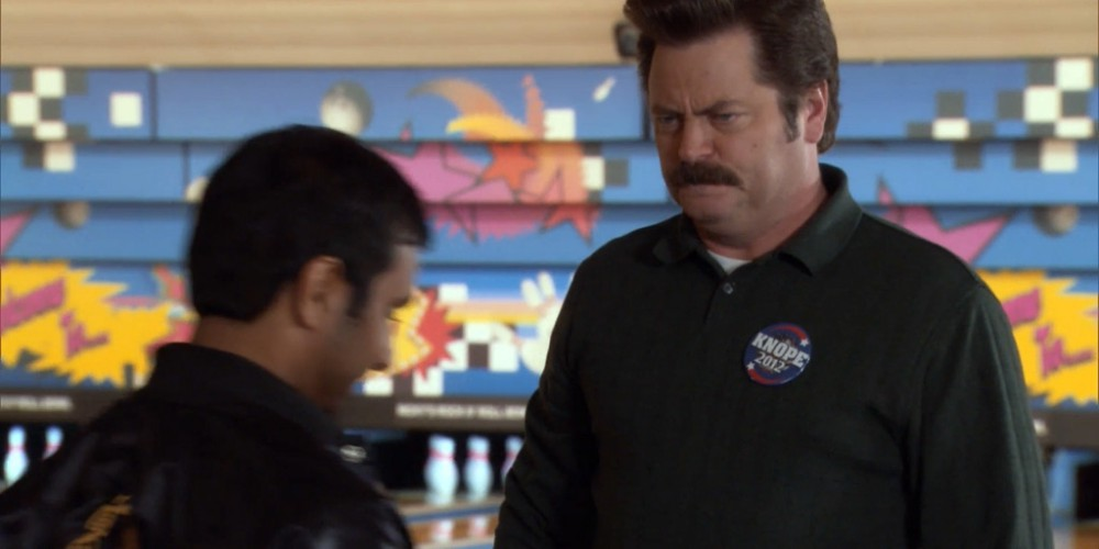 Ron Swanson is very angry