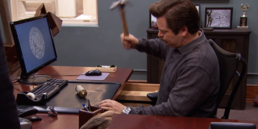 Ron Swanson helped Ben get the cryptext open picture 2