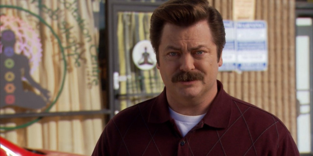 Does Ron Swanson know what meditating is