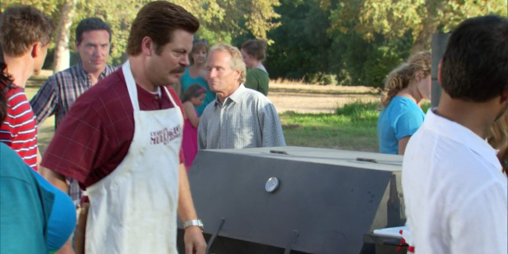 Ron Swanson towing the grill away picture2
