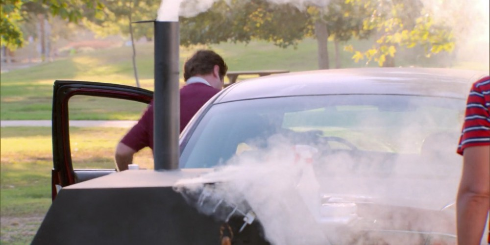 Ron Swanson towing the grill away picture7
