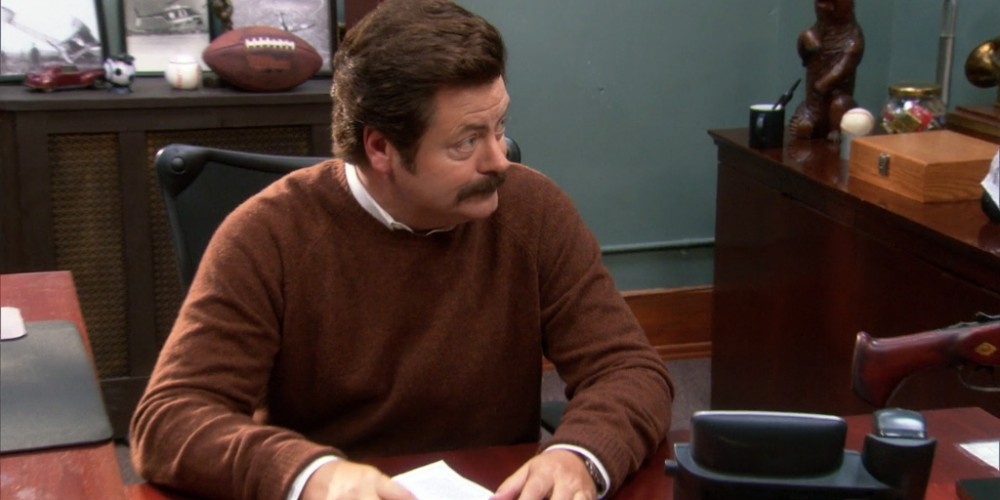 How it's impossible for Diane to interrupt Ron Swanson at work