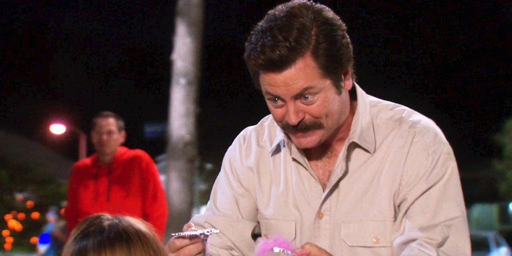 Ron Swanson leveled the playing field by breaking the other tiara
