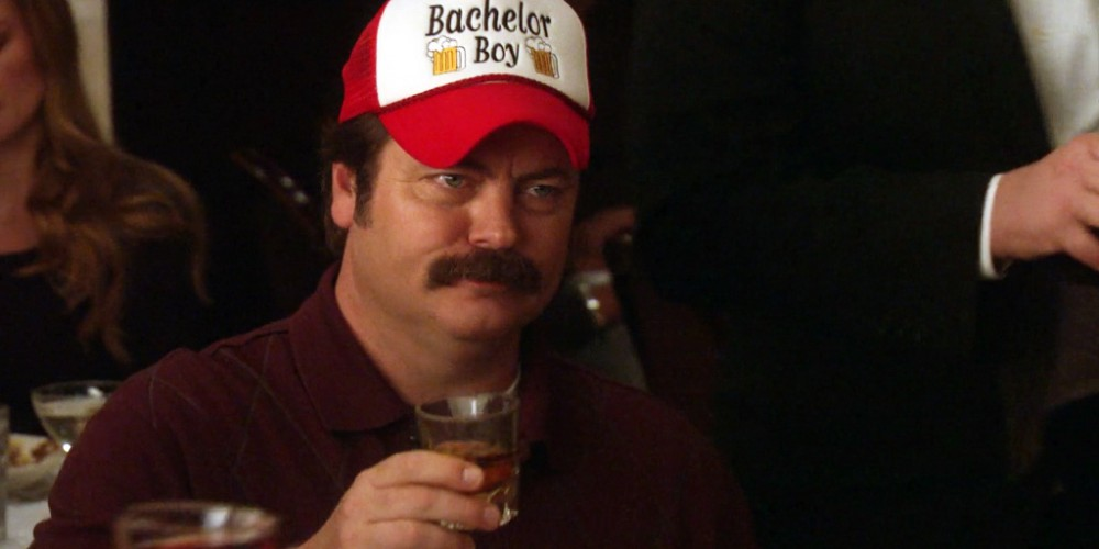 Ron Swanson approves of Chris' toast