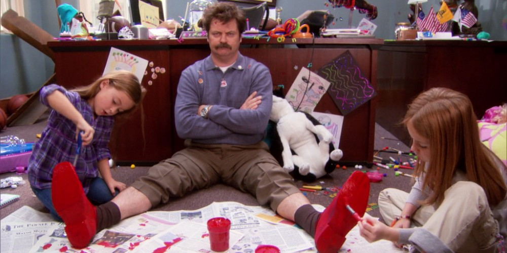 Ron Swanson the babysitter picture6