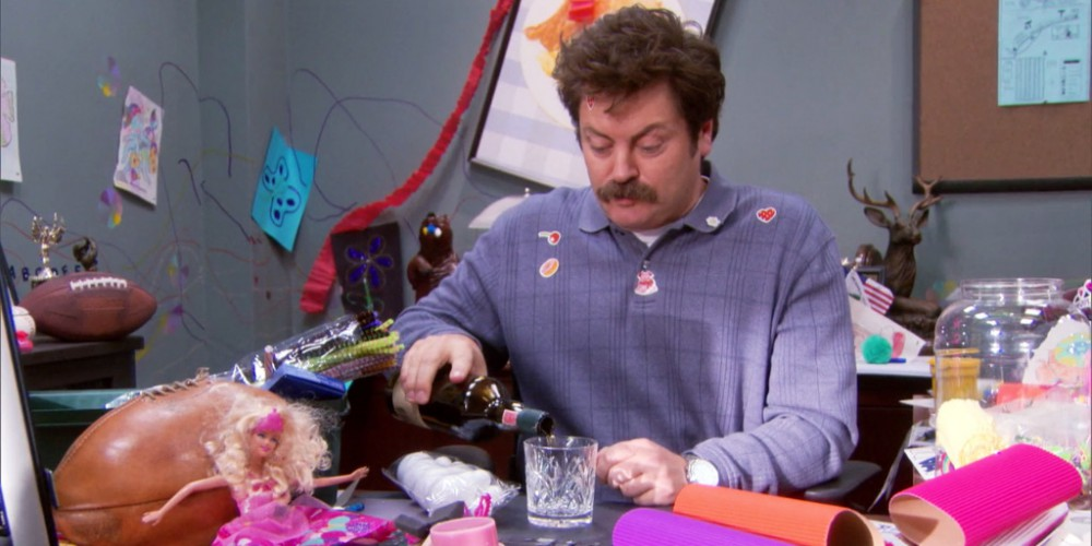 Ron Swanson the babysitter picture8