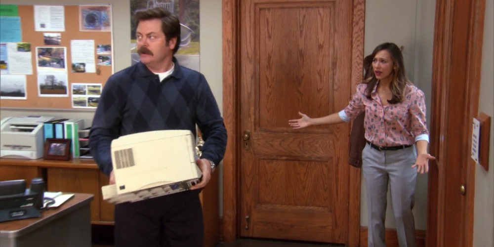 Ron Swanson is so glad Jerry's here